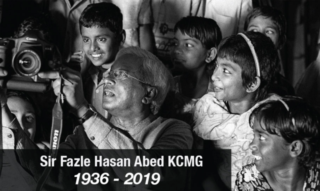 Remembering Sir Fazle Hasan Abed KCMG with profound sadness